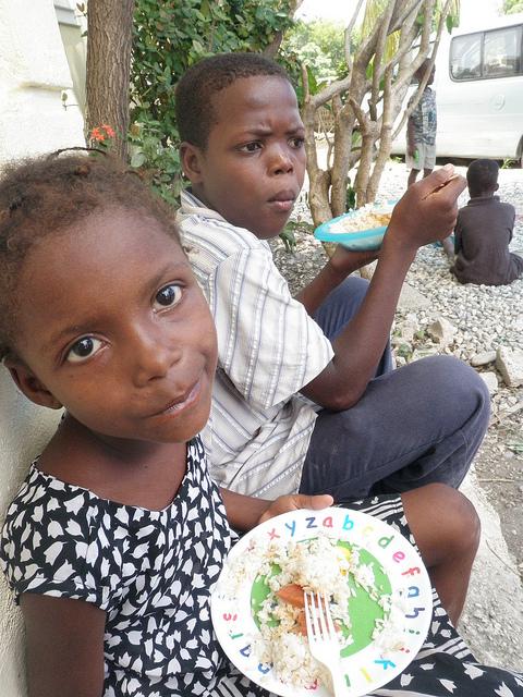 An orphanage in Haiti